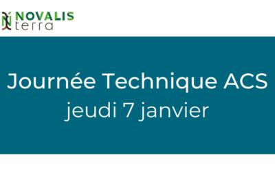 Invitation Journée Technique ACS du jeudi 7 janvier 2021
